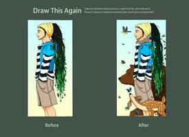 Draw this again - Haru by g3m1n1