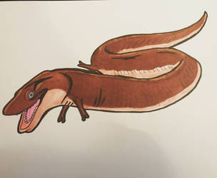 Slick the Two-Toed Amphiuma by tombola1993