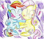 Flutterdash hugs by ptitemouette