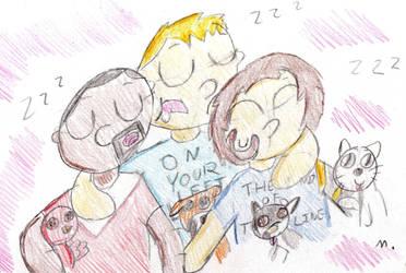 Sleeping Gays by ptitemouette