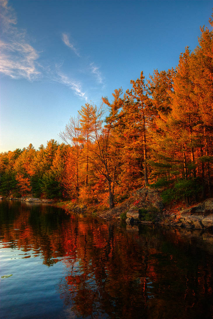 French River by Qels