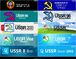 Microsoft Windows USSR Logotype Evolution by Diamond00744
