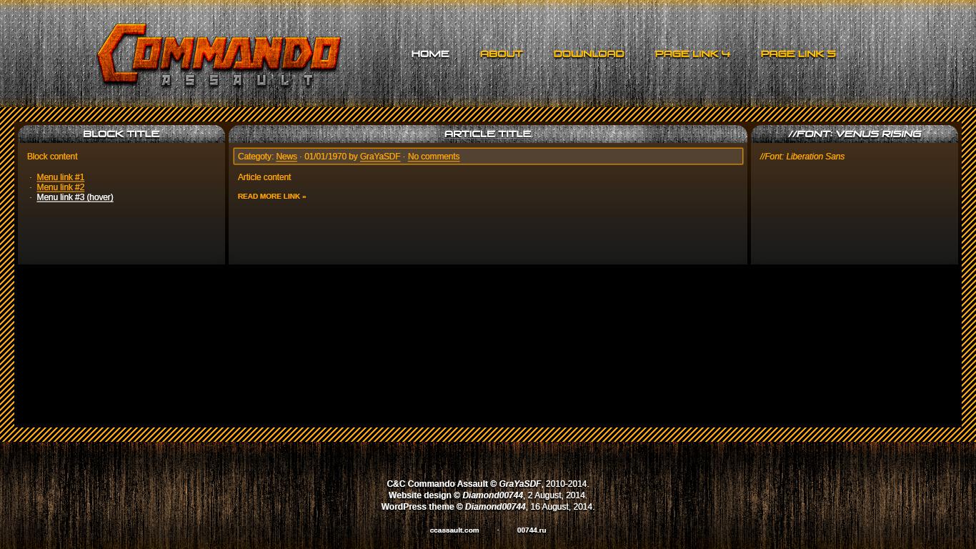 CNC Commando Assault website design by Diamond00744