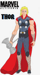 Ultiverse Thor redesign by FakeRobin99