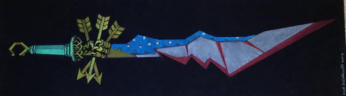 Colbert's Batwing Sword of the Hyper Patriot by Clockworkalien