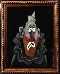 Gravity Falls: Sad clown on black velvet by Clockworkalien
