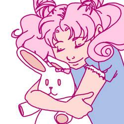 req: Chibiusa + bunny by sammywhatammy