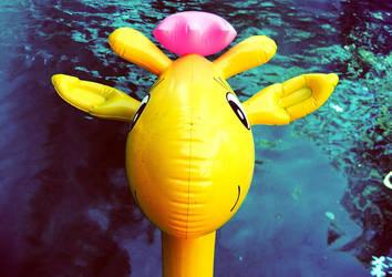 Giraffe swim time by francesepulveda