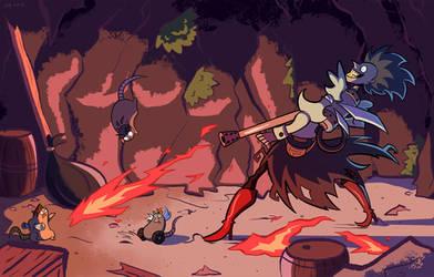 FIRE! by FalloutCat