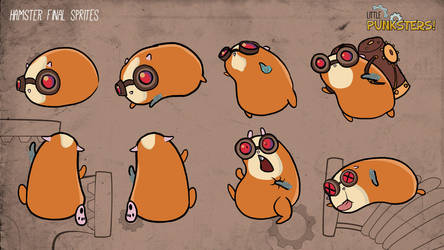 Little Punksters - Hamster Sprites by FalloutCat