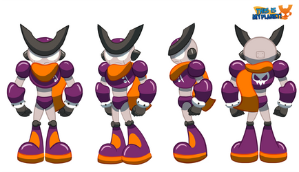 This is my planet! Protagonist turnaround by FalloutCat