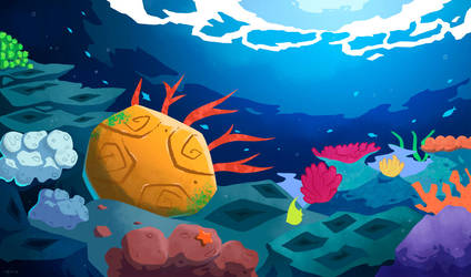 Coral Reef Background by FalloutCat