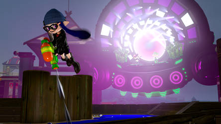 Ayami playing catch-up with Squid Sisters by Optimus97