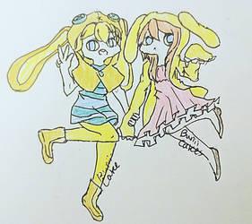 Bunny Buddies!! [ Aki Toka and USAGI] by buniicake