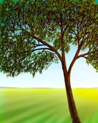 Tree Digital Painting by AaronRutten
