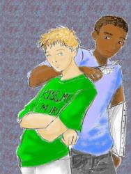 Dean Thomas and Seamus Finniga by LilDemonChild