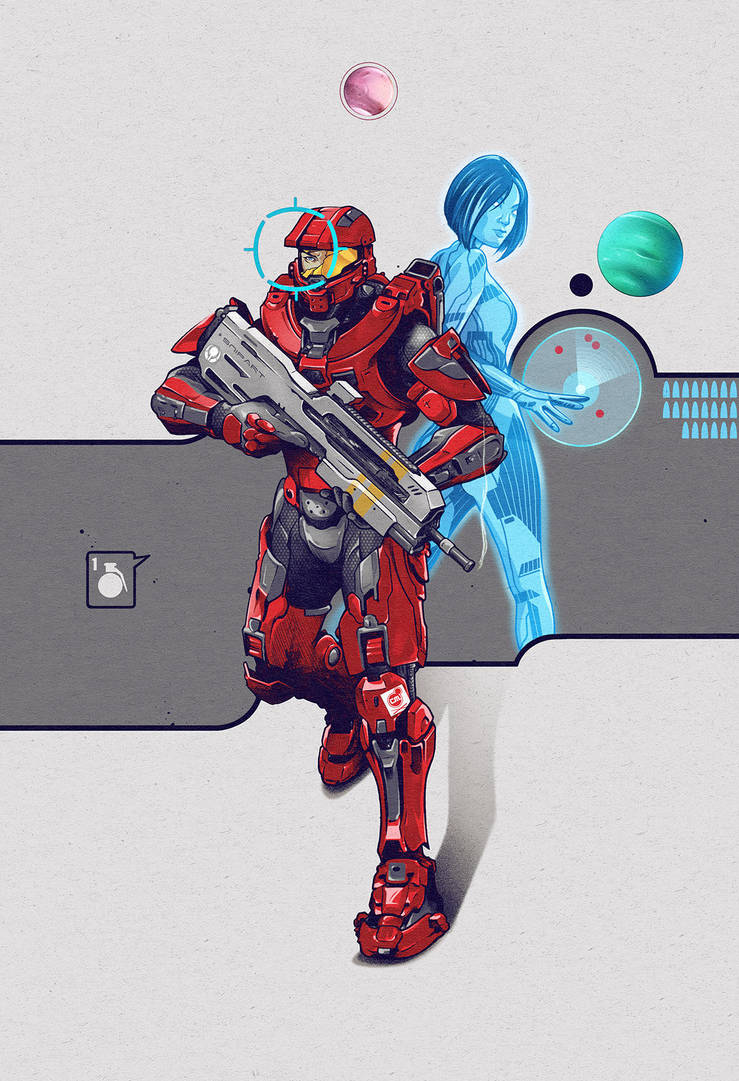 Master Chief (Halo) by ChrisBMurray