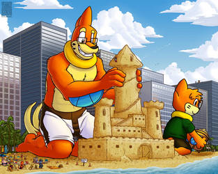 Giants and Castles by buizelmaniac