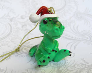T-rex Christmas Ornament by DragonsAndBeasties