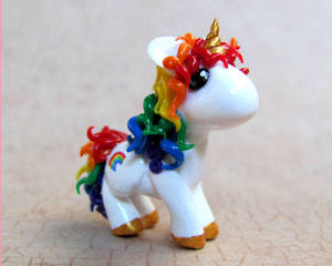 Custom Rainbow Unicorn by DragonsAndBeasties