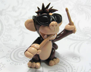 Custom Drummer Monkey by DragonsAndBeasties