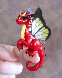 Red Butterfly Dragon by DragonsAndBeasties