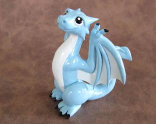Blue Wyvern by DragonsAndBeasties