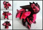 Hot Pink Filigree Dragon by DragonsAndBeasties