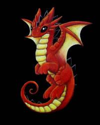 Orange Dragon by DragonsAndBeasties