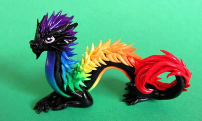 Rainbow Oriental Dragon - Auction by DragonsAndBeasties