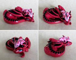Pink Mama and Baby Dragons by DragonsAndBeasties