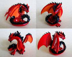 Big Red Dragon - Auction by DragonsAndBeasties