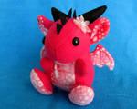 Pink Flower Dragon PLush by DragonsAndBeasties