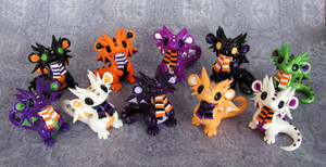 Baby Halloween Dragons by DragonsAndBeasties