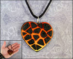 Molten Lava Heart Necklace by DragonsAndBeasties