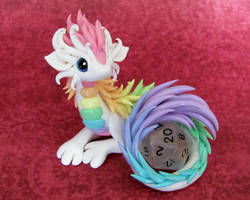 Pastel Rainbow Dice Dragon by DragonsAndBeasties
