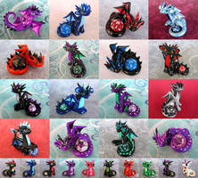 Dice Dragons for Sale by DragonsAndBeasties