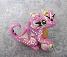 Pink Swirl Baby Dragon by DragonsAndBeasties