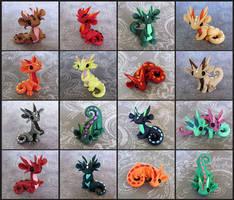Scrap Dragons by DragonsAndBeasties
