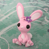 Pink Bunny by DragonsAndBeasties