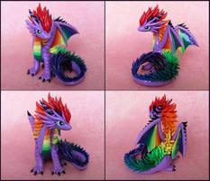 Purple Rainbow Dragon by DragonsAndBeasties
