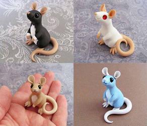 Four little ratties by DragonsAndBeasties