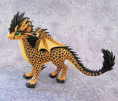 Cheetah-dragon by DragonsAndBeasties