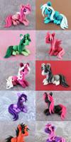 Colorful Scrap Ponies by DragonsAndBeasties