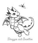 Inktober: Tiny Playmate by DragonsAndBeasties