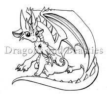Inktober: Mama and baby by DragonsAndBeasties