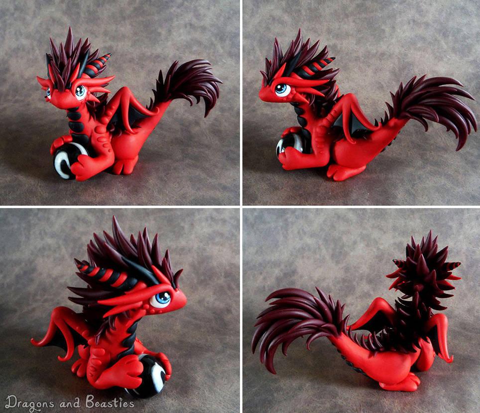 Fluffy Red Dragon by DragonsAndBeasties