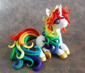 Rainbow Unicorn - Charity Auction by DragonsAndBeasties