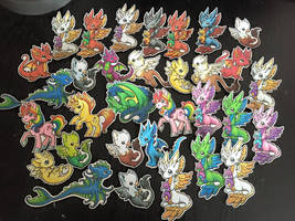 Dragons and Beasties Stickers by DragonsAndBeasties