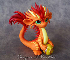 Firey Little Oriental Dragon by DragonsAndBeasties